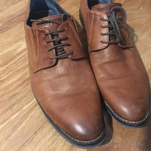 Men's brown leather hush puppies Oxford